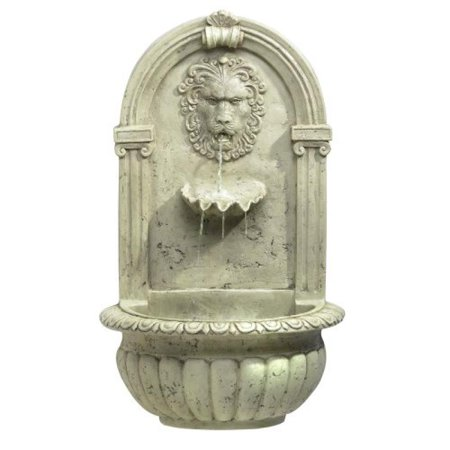 Garden Wall Water Fountain - Lion Head Outdoor Wall Mount Garden Water Fountain
