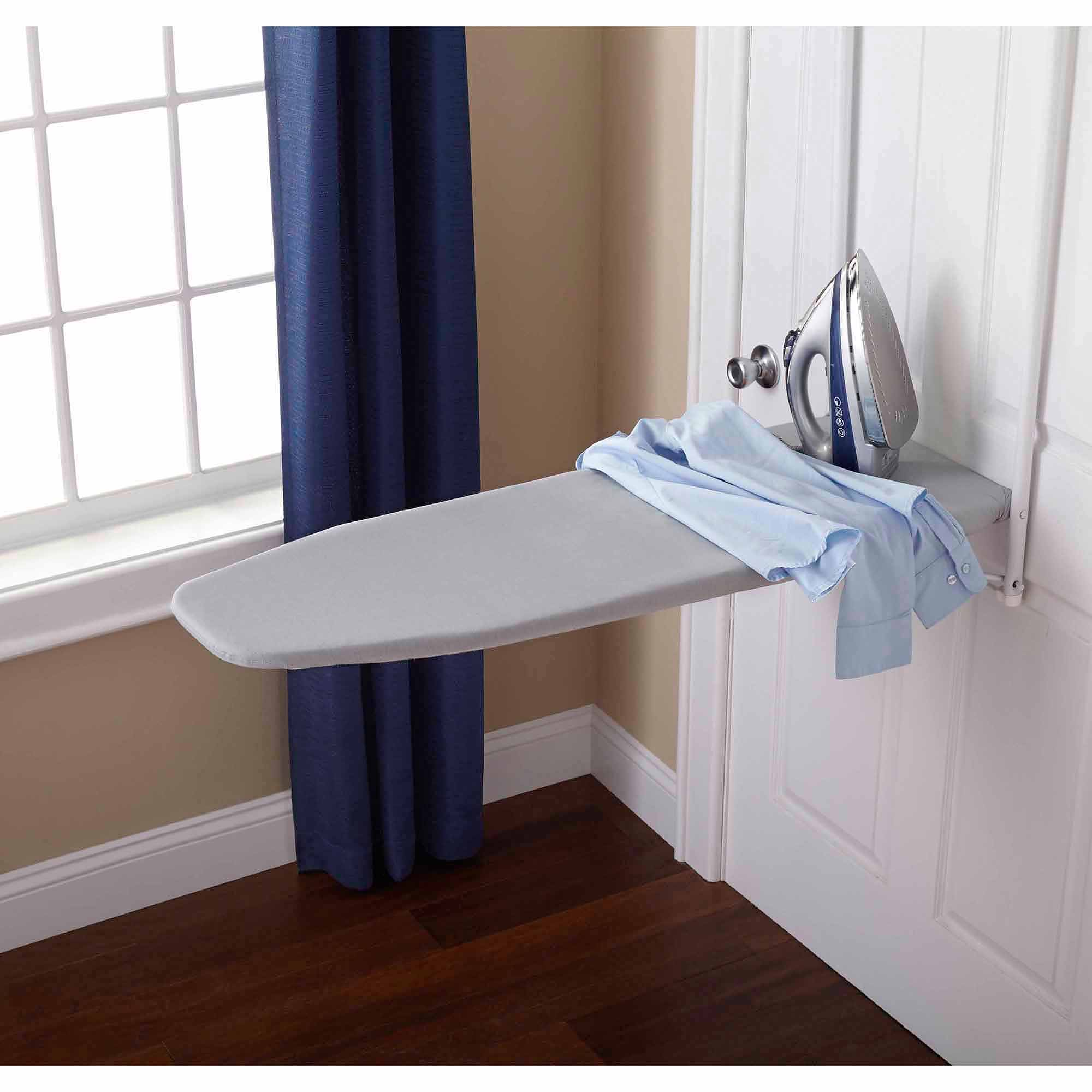 Merveilleux Mainstays Replacement Over The Door Ironing Board Pad And Cover, Gray Dove    Walmart.com