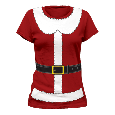 Mrs. Santa Claus Womens T-Shirt Costume Christmas St. Nick Xmas Adult
