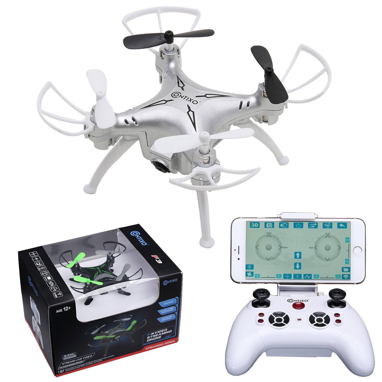 Contixo F3 World's Easiest Fly App Track-Controlled Mini Drone 720P HD WiFi Camera, 2.4GHz... by Contixo