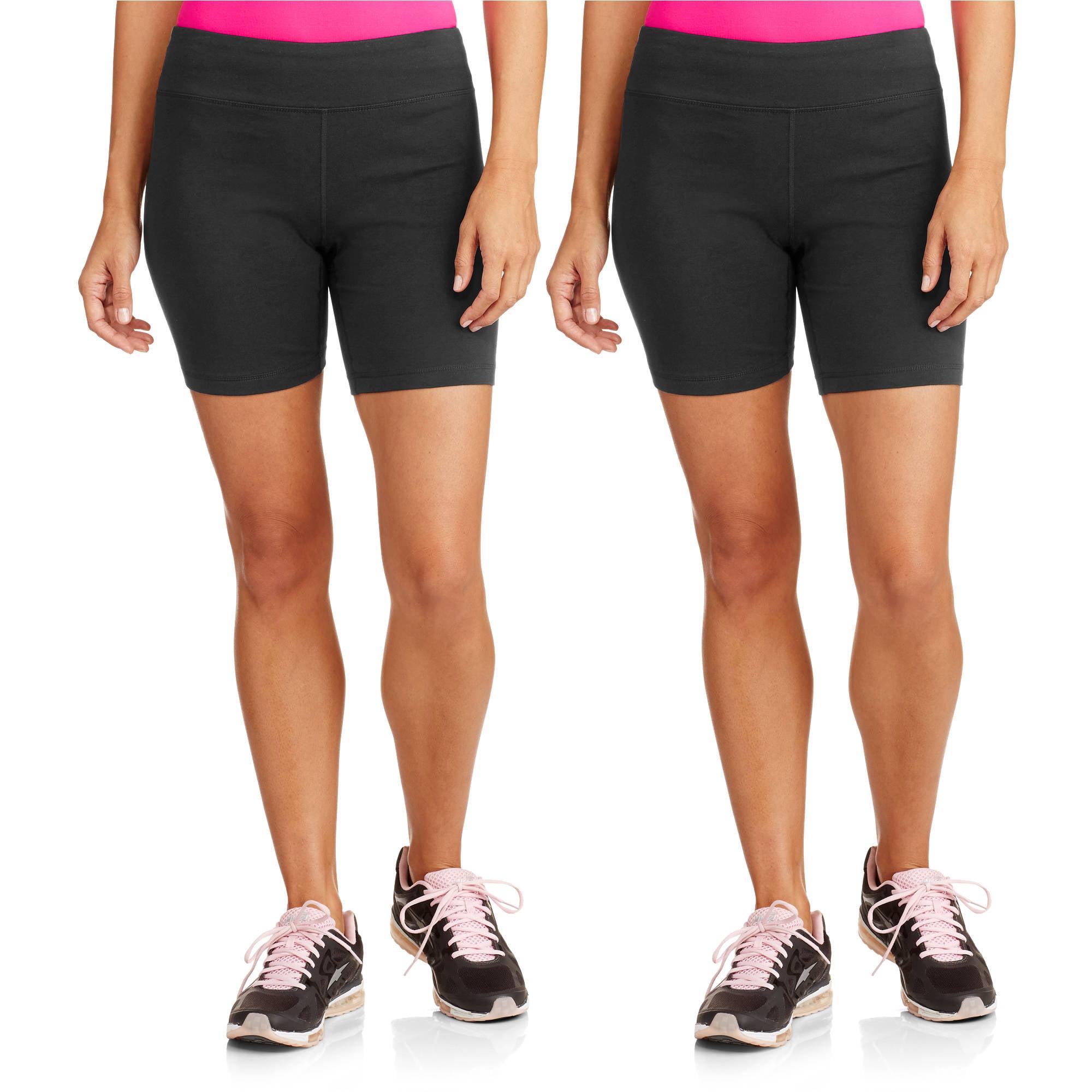 Danskin Now Women's Dri-More Core Bike Shorts, 2-Pack