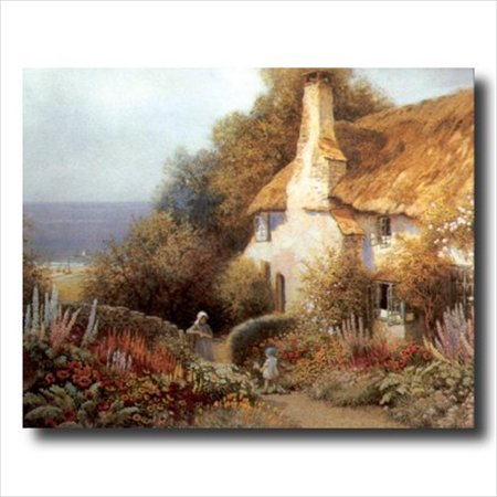 Country Cottage Ocean Beach Wall Picture Art Print Beach Cottage Wall Art