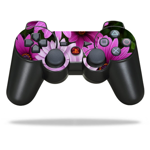 Skin Decal Wrap for Sony PlayStation 3 PS3 Controller Purple Flowers