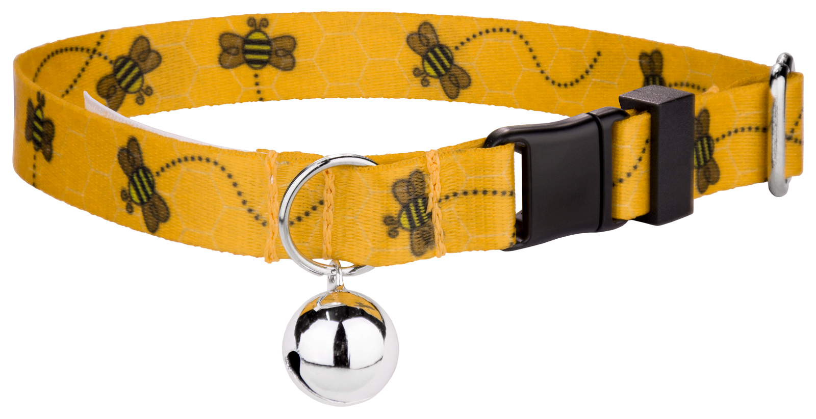 Country Brook Petz Busy Bee Featherweight Cat Collar by Country Brook Design