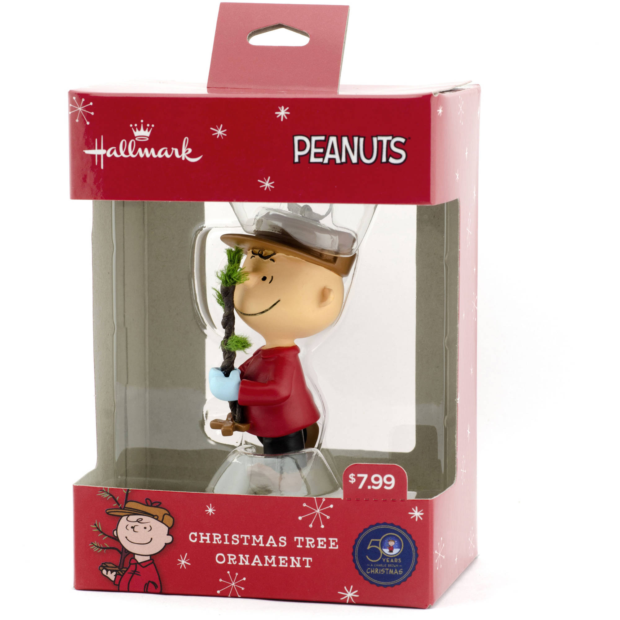 Hallmark Peanuts Charlie Brown with a Christmas Tree Resin ...