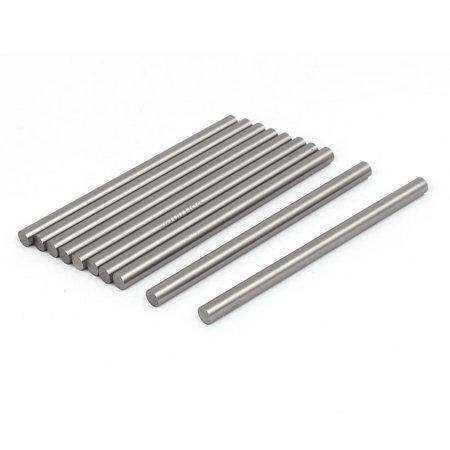 6Mm Dia 100Mm Length Hss Round Shaft Rod Bar Lathe Tools Gray 10Pcs