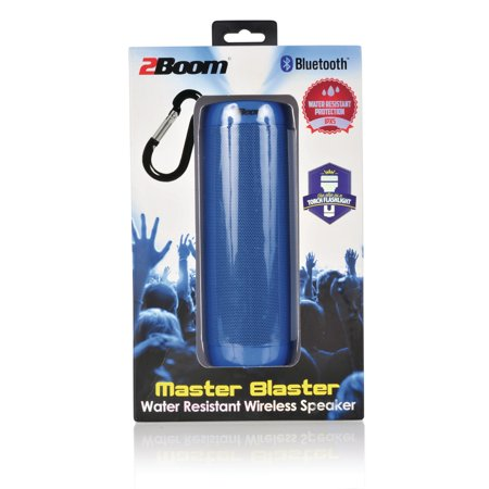 2BOOM BT660B Master Blaster Water-Resistant Bluetooth Speaker (Blue)