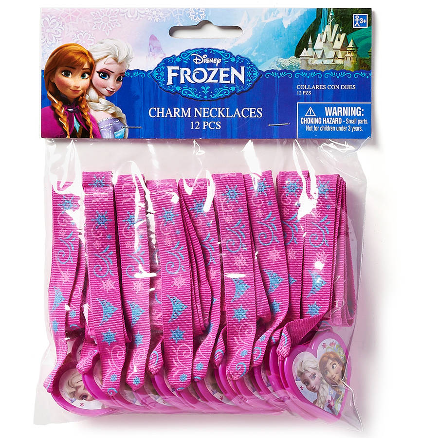 Frozen Party Accessories, Charm Necklace Favors, 12 Count, Party Supplies