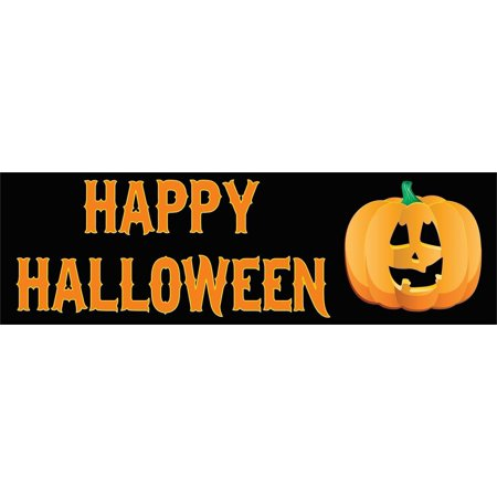 10in x 3in Happy Halloween Pumpkin Bumper magnet  Car magnetic magnets for $<!---->