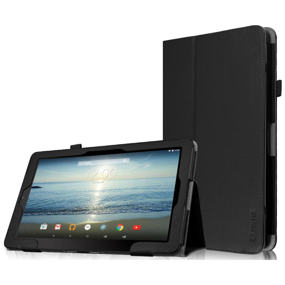 "Fintie RCA 10 Viking Pro / Viking II Case - Vegan Leather Cover for RCA Viking Pro Viking II 10.1"" Tablet, Black"
