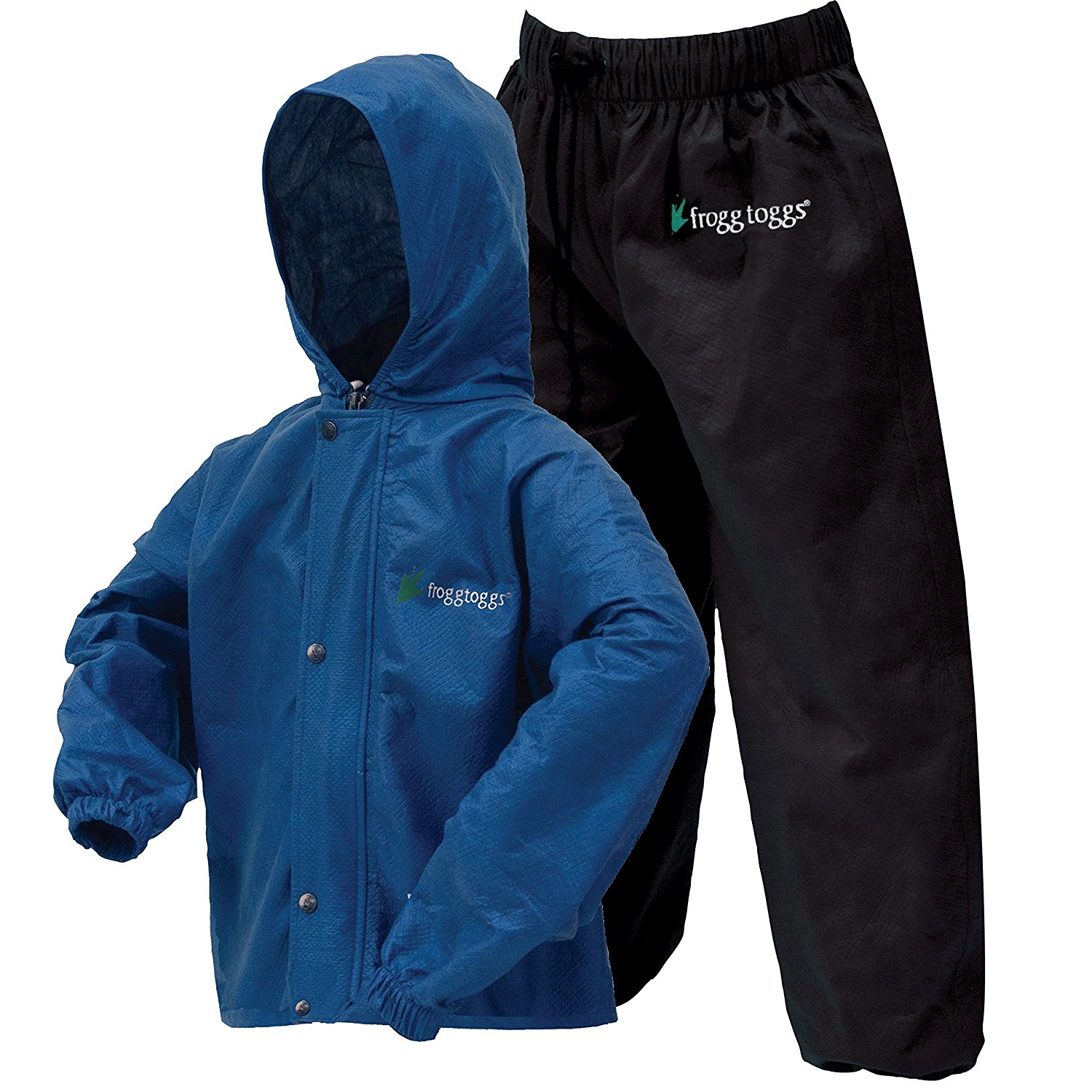Polly Woggs Youth Rain Suit, Medium, Blueberry By Frogg T...