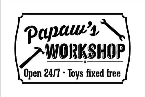 f6ed6ea4 Pawpaws workshop open sign stencil studior reusable jpeg 560x560 Worlds best  papaw stencil