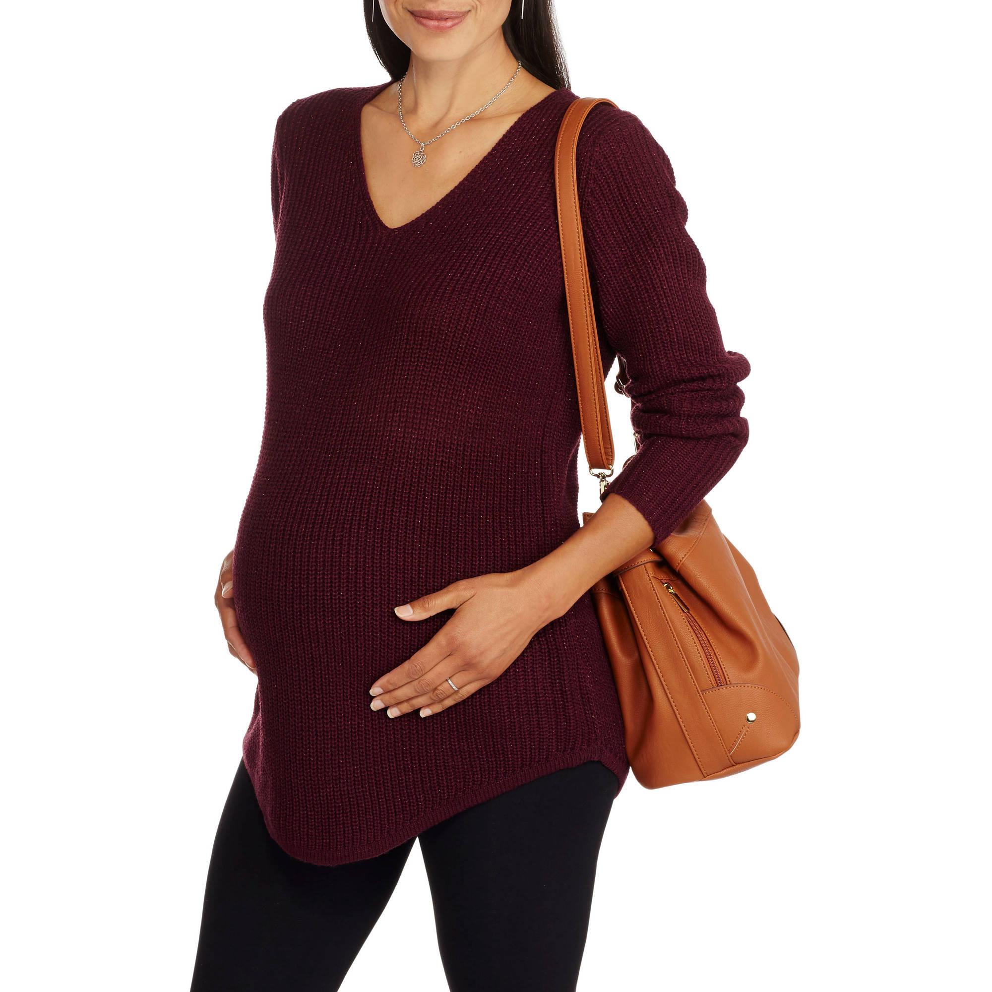 Faded Glory Maternity Vneck Sweater Tunic