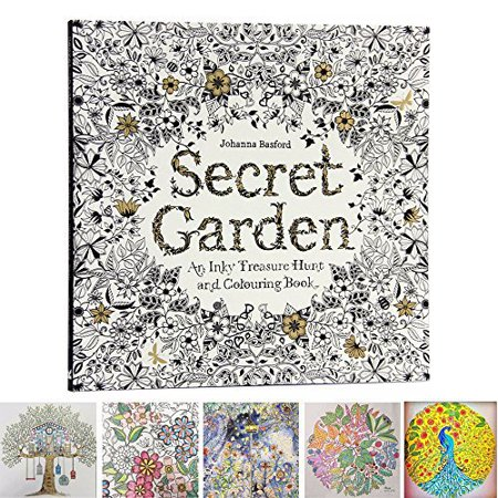 Chengor 25cm x 25cm 96 Pages English Secret Garden Coloring Books for Adults Relieve Stress Kill Time Graffiti Painting Book Libros - Coloring Page For Adults