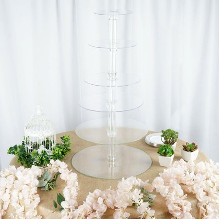 6 Tier Acrylic CupCake Stand / EXTRA LARGE ()
