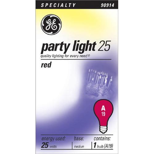 GE 25-Watt A19 Green Party Light, 1-Pack