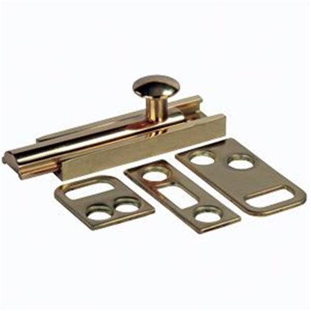 20635 3 In. Surface Bolt Brass