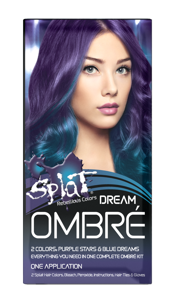 Splat Complete Kit Ombre Rain Semi Permanent Purple Pink Hair Dye With Bleach Walmart Com Walmart Com