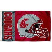 Washington State Cougars Football Helmet 3' x 5' Pole Flag