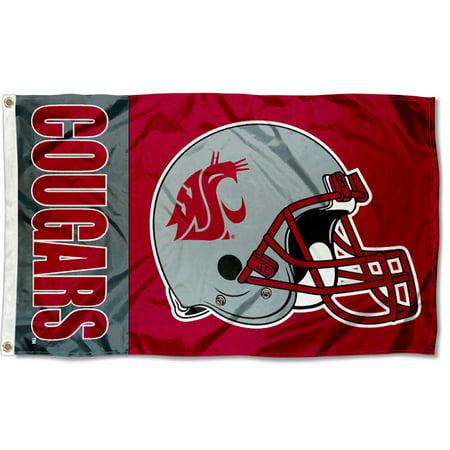 Washington Cougars Football (Washington State Cougars Football Helmet 3' x 5' Pole)