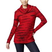 Kensie Space Dyed Cowl Neck Sweater