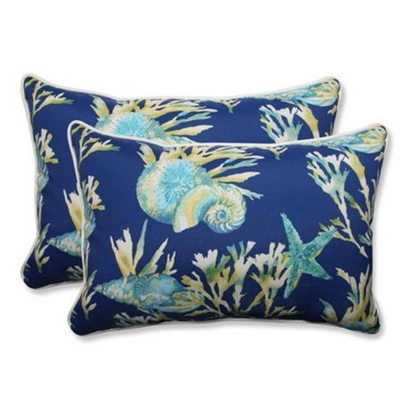Pacific Blue Throw Pillows : Pillow Perfect 592855 Indoor-Outdoor Daytrip Pacific Over-Sized Rectangular Throw Pillow, Blue ...