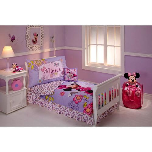 DISCONTINUED - Disney Minnie Mouse Flower Garden 10-Piece Toddler Bedding Set