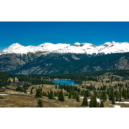 LAMINATED POSTER Snow Forest Colorado Mountains Valley Lake Molas Poster Print 24 x 36 (Colorado Pictures)