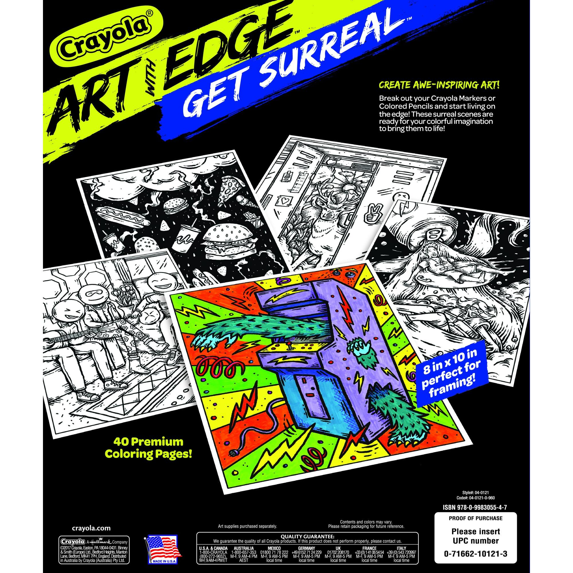 Crayola Art With Edge Get Surreal Coloring Book, 40 Pages by Crayola