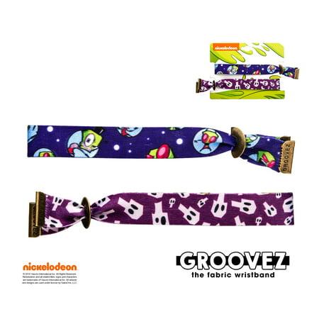 Nickelodeon Unisex Adult Invader Zim Adult Groovez Bracelet Set, Purple/Green, Adjustable - Gir Invader Zim Costumes Halloween