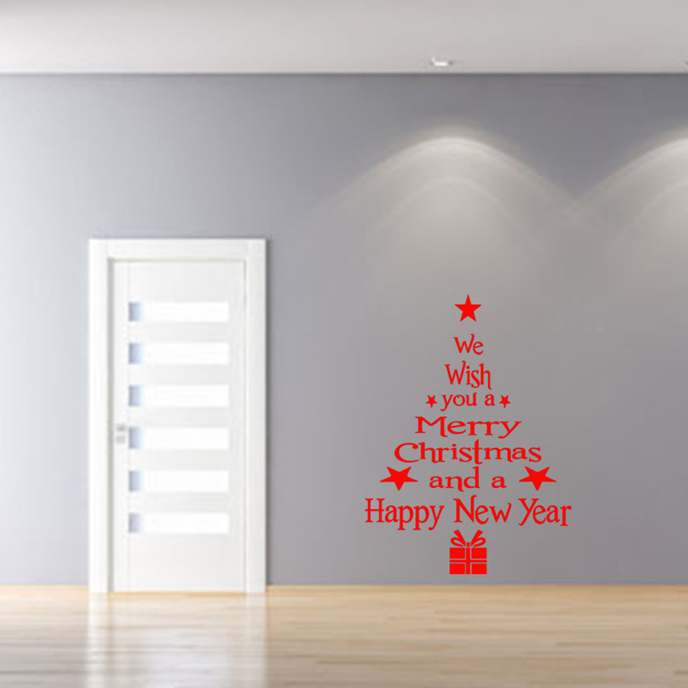 Vinyl Removable 3D Wall Sticker Christmas Tree Decals For Christmas Wall Decal