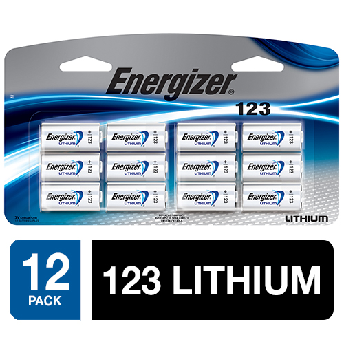 Energizer Lithium 123 Photo Batteries 12/Pk