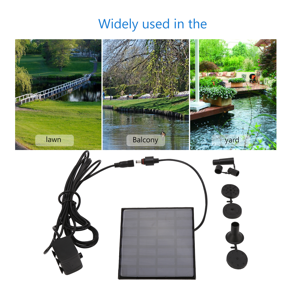 Solar Power Panel Fountain Water Submersible Pump Kit for Pool Garden Pond, Solar Water Fountain, Water Fountain