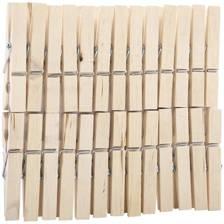 Mainstays Stain Proof Wooden Clothespins With Rust Resistant Springs 400 Count