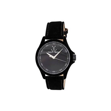 Sartorial Only Time Black Dial Black Velvet-covered Leather Ladies