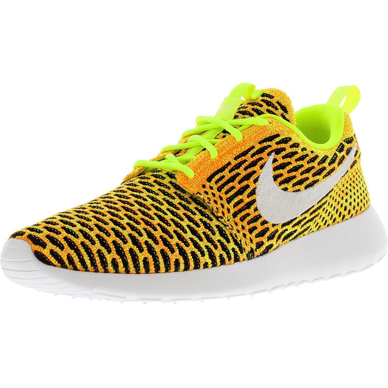 748f8e1a9f6253 ... low price nike womens roshe one flyknit volt white total orange black  ankle high running shoe