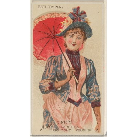 Best Company from the Parasol Drills series (N18) for Allen & Ginter Cigarettes Brands Poster Print (18 x