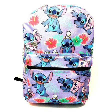 Disney Girls Backpack (Disney Lilo and Stitch Allover Print 16