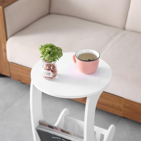 Zimtown Sofa Side End Table, Snack Table|Durable Construction Living Room Furniture