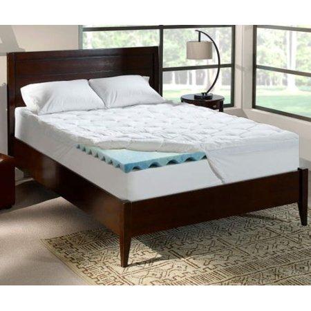 serta perfect sleeper 4 inch king cushioned plush gel memory foam mattress topper 76 x. Black Bedroom Furniture Sets. Home Design Ideas
