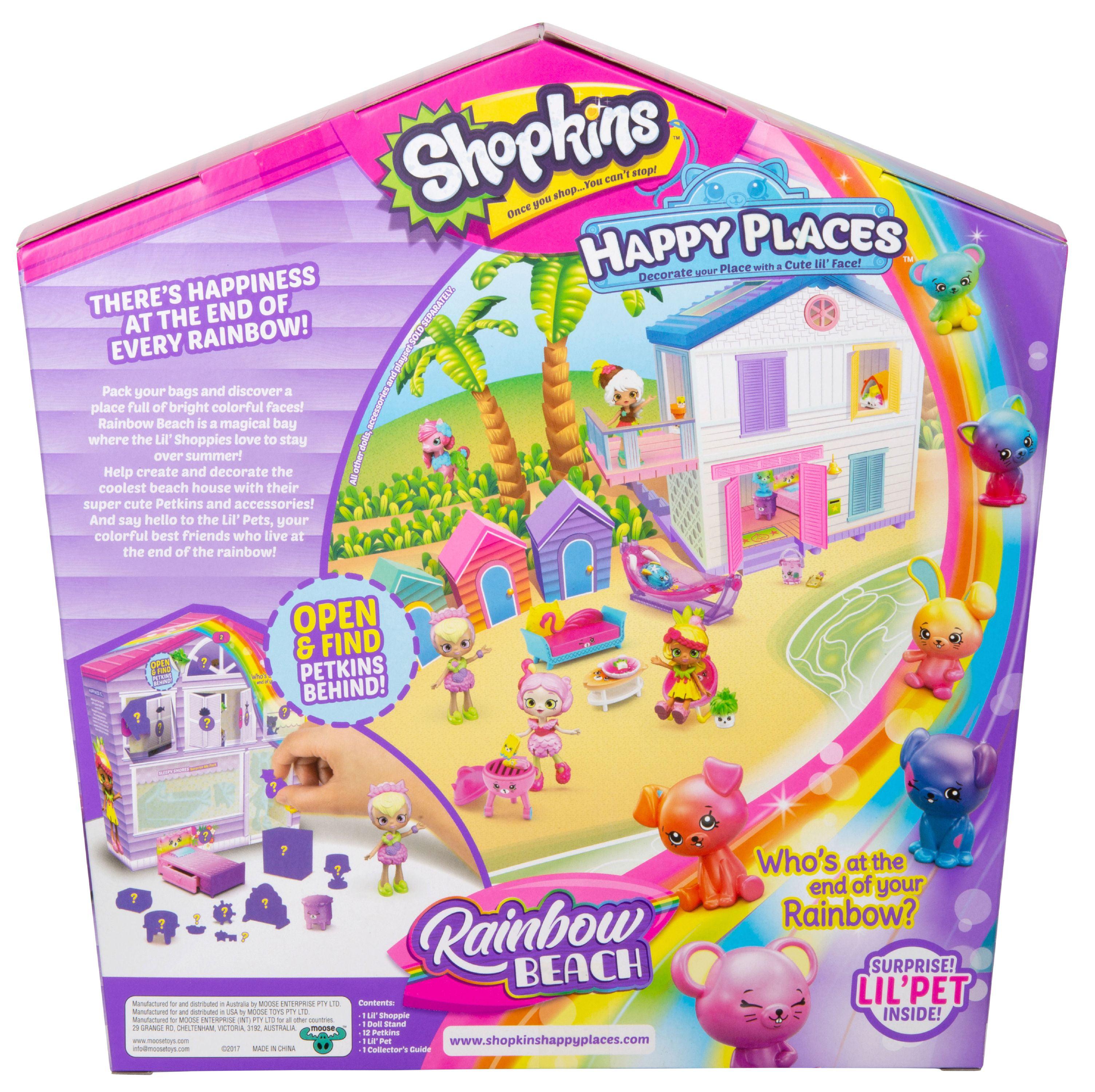 Shopkins Happy Places Rainbow Beach Furniture Set, Sleepy Shores