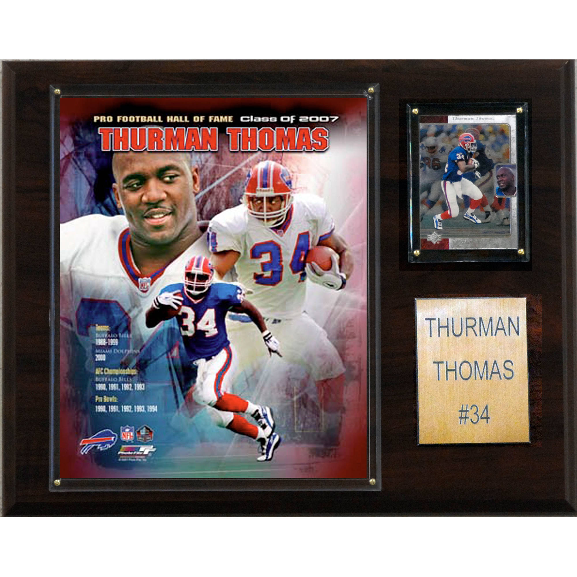 C&I Collectables NFL 12x15 Thurman Thomas Buffalo Bills Player Plaque