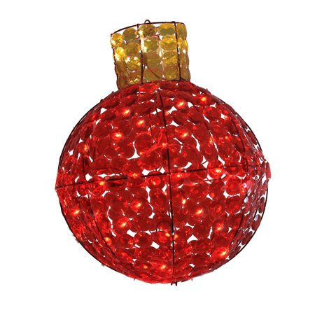 LB International 24 in. LED Lighted Red and Amber Faceted Light Bulb Christmas Light Display](Halloween Displays Calgary)