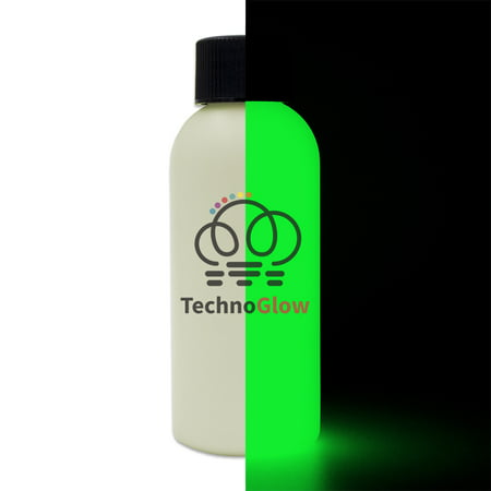 Green Glow in the Dark Paint, 1 fl oz Techno Glow - Paint Glow In The Dark