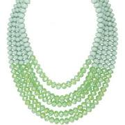 5-row Lantern Bead Statement Necklace, C