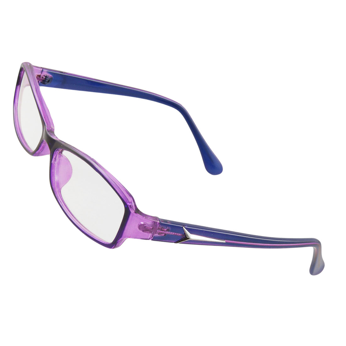 multi coated lens purple frame plain glasses