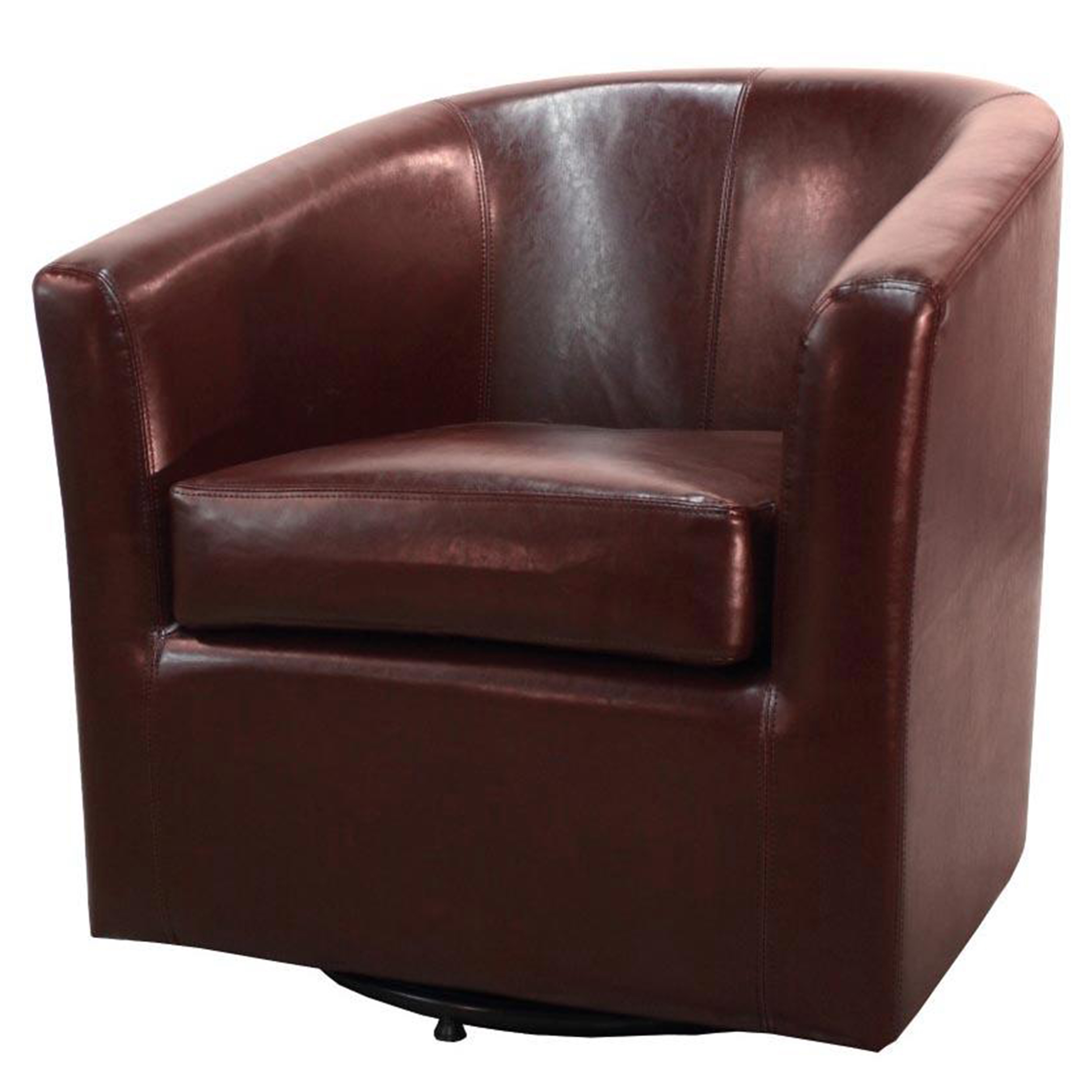 Amazing Hayden Swivel Bonded Leather Tub Chair Multiple Colors Squirreltailoven Fun Painted Chair Ideas Images Squirreltailovenorg