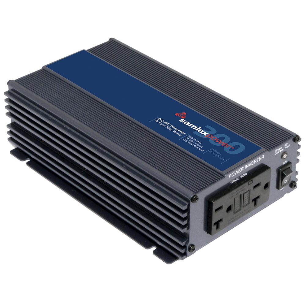 SAMLEX PST-300-24 PURE SINE  WAVE INVERTER 24V INPUT 120