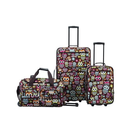 Rockland Luggage Spectra 3 Piece Softside Rolling Luggage (Rolling Luggage Set)
