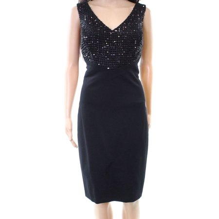 Sequin Sheath Dress (Lauren By Ralph Lauren NEW Black Women's Size 2 Sheath Sequin Dress)